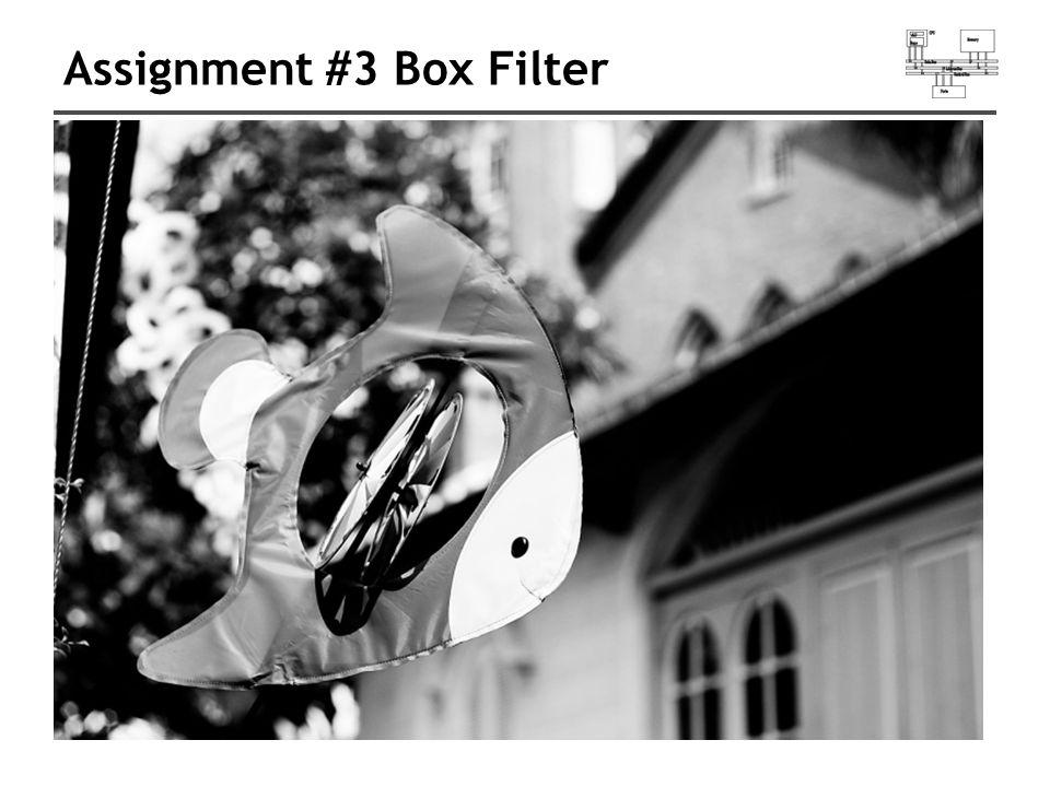 Assignment #3 Box Filter