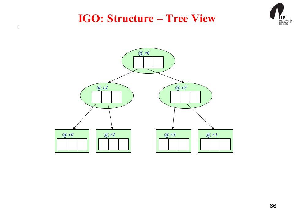 66 IGO: Structure – Tree View @ r6 @ r2@ r5 @ r0@ r1@ r3@ r4