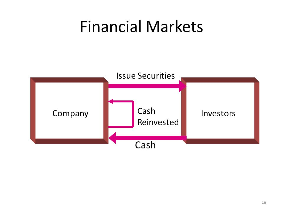 Financial Markets Company Issue Securities Cash Investors Cash Reinvested 18