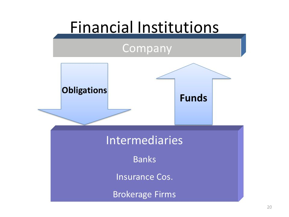 Financial Institutions Company Intermediaries Banks Insurance Cos. Brokerage Firms Obligations Funds 20