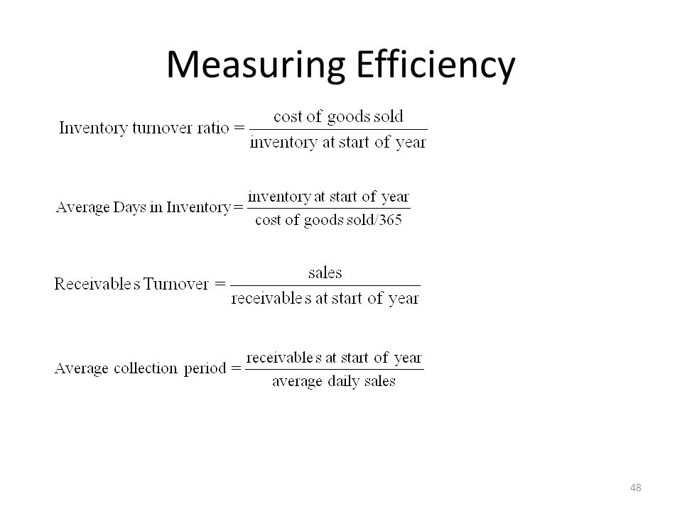 Measuring Efficiency 48