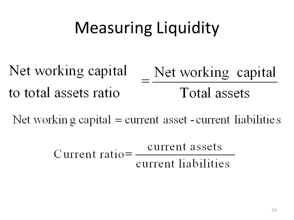 Measuring Liquidity 54