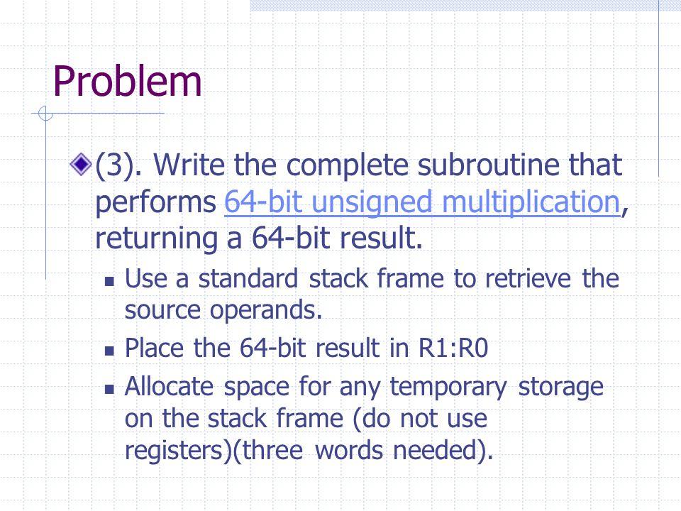 Problem (3).