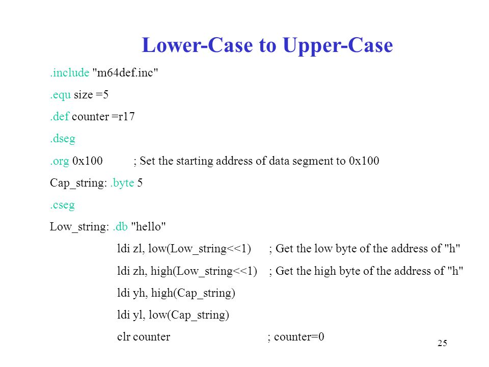 25 Lower-Case to Upper-Case.include
