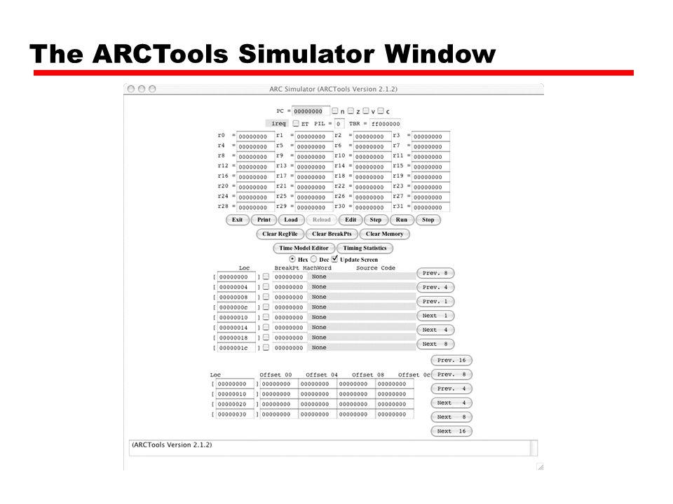 Simulator note.