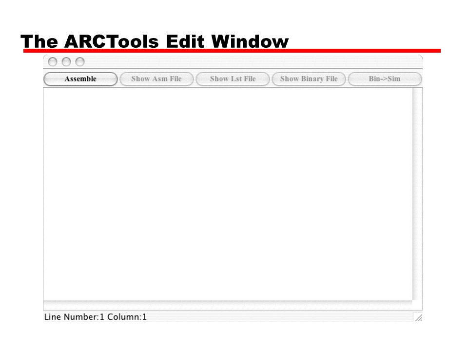 The ARCTools Edit Window