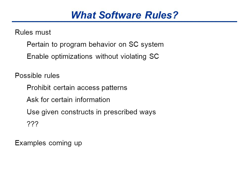 What Software Rules.