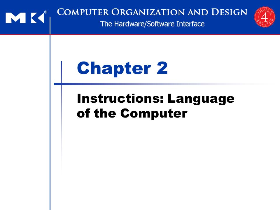 Chapter 2 — Instructions: Language of the Computer — 22 ARM Data Transfer (DT) Instruction Design Principle 4: Good design demands good compromises Different formats complicate decoding, but allow 32-bit instructions uniformly Keep formats as similar as possible CondFOpcodeRn 4 bits 2 bits6 bits RdOffset12 4 bits12 bits 141243 4 bits 2 bits6 bits 532 4 bits12 bits LDR r5, [r3, #32] ; Temporary reg r5 gets A[8] CondFIOpcodeSRn 4 bits 2 bits1 bits4 bits1 bits RdOperand2 4 bits12 bits