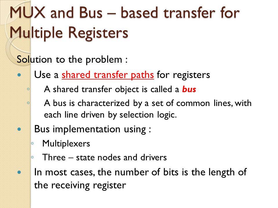 Three – State Bus A register with n lines that serve as both inputs and outputs.