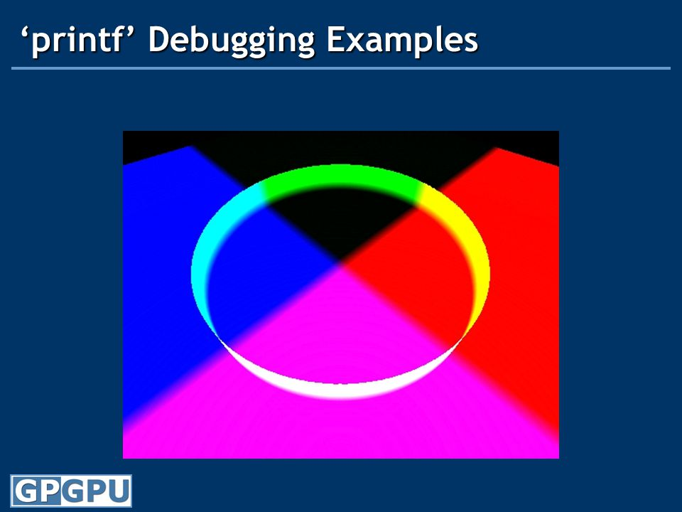 'printf' Debugging Examples