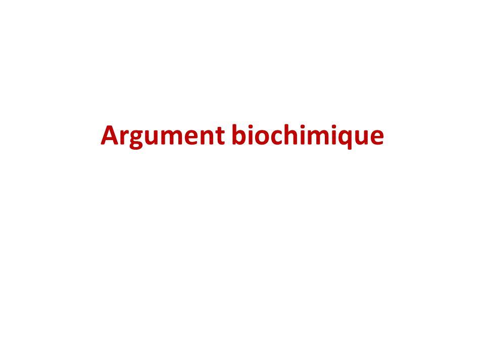 Argument biochimique