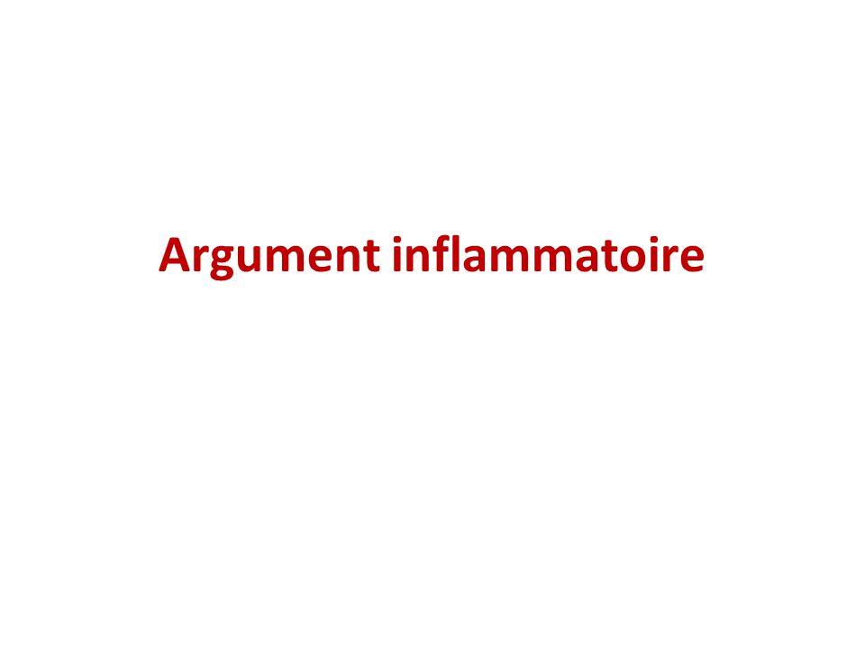 Argument inflammatoire