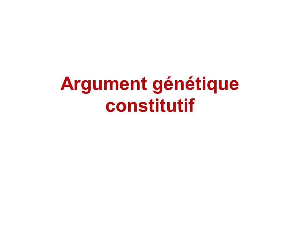 Argument génétique constitutif