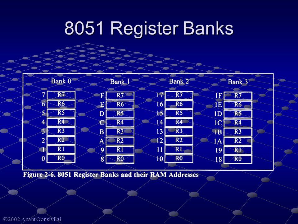  2002 Anant Oonsivilai 8051 Register Banks