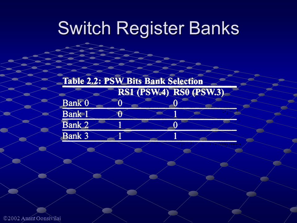  2002 Anant Oonsivilai Switch Register Banks