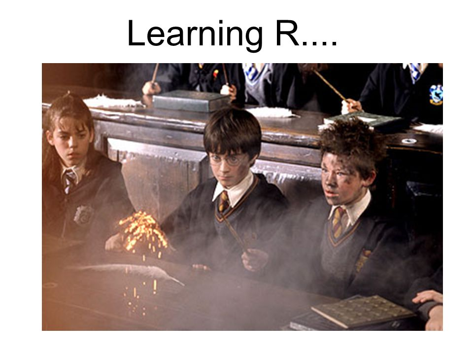 Learning R....