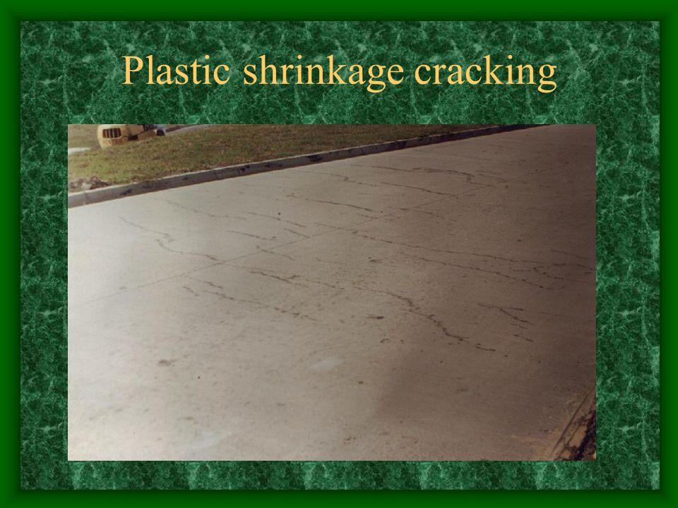 Plastic shrinkage cracking
