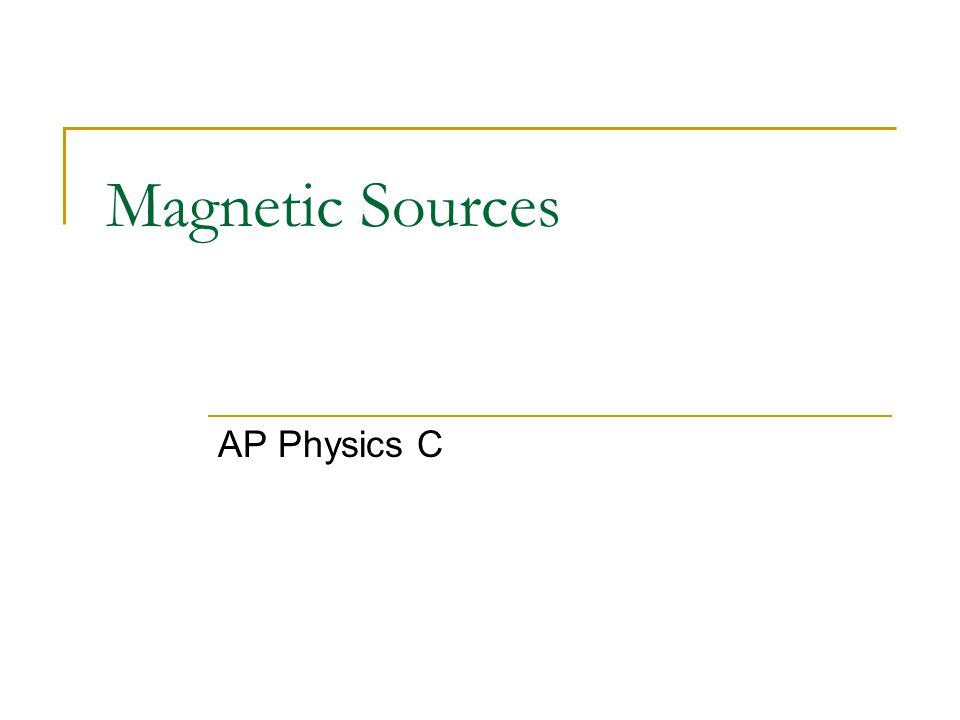 Sources of Magnetic Fields In the last section, we learned that if a charged particle is moving and then placed in an EXTERNAL magnetic field, it will be acted upon by a magnetic force.