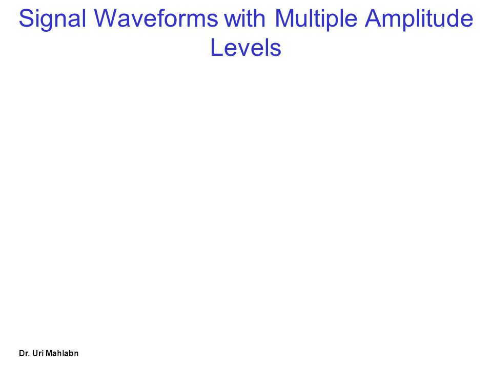 Dr. Uri Mahlabn Signal Waveforms with Multiple Amplitude Levels