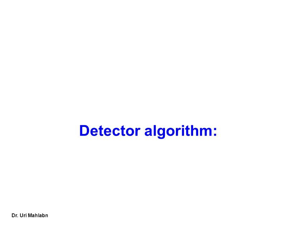 Dr. Uri Mahlabn Detector algorithm: