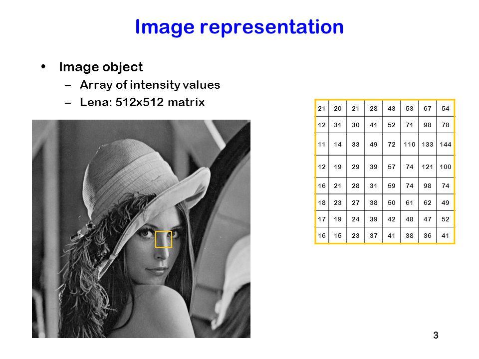 14 Better segmentation Adaptive thresholding + mathematical opening + holes filling –xb = thresh(x[,,1], 10, 10, 0.05) –kern = makeBrush(5, shape= disc ) –xb = dilate(erode(xb, kern), kern) –xl = bwlabel(fillHull(nuct2)) x xbxl