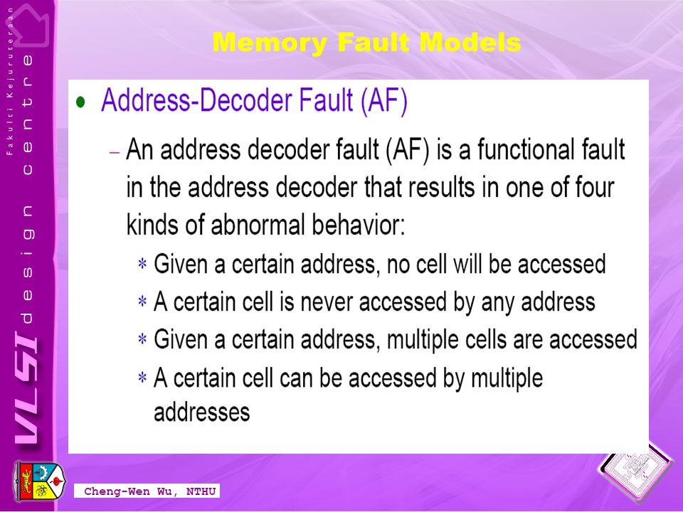 Memory Fault Models