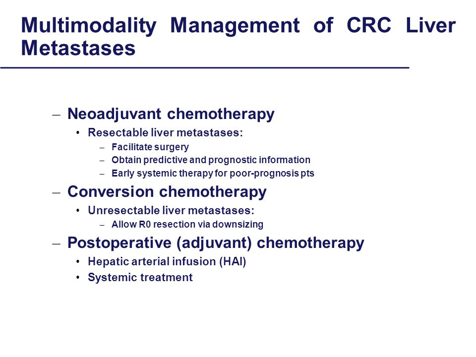BIOLOGICALLY CHALLANGING Colon Cancer: NOT all liver metastases are created equal PFS/OS
