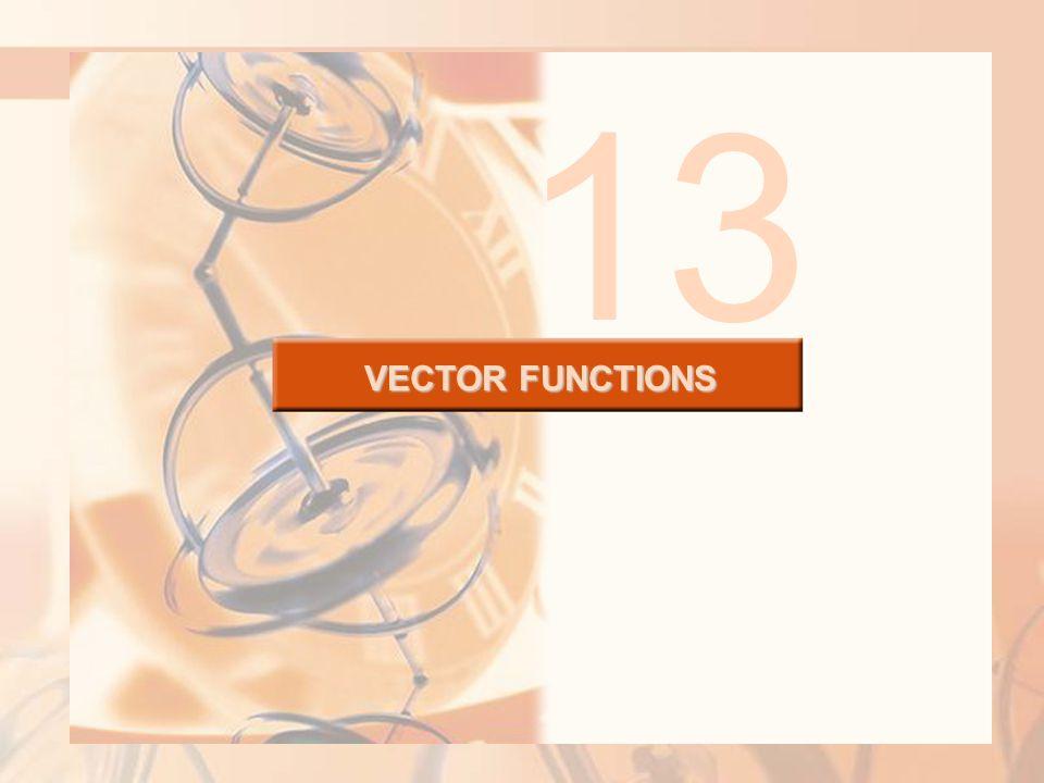 VECTOR FUNCTIONS 13