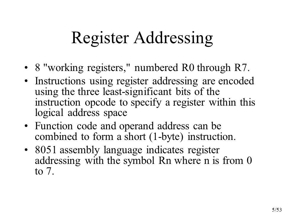 5/53 Register Addressing 8