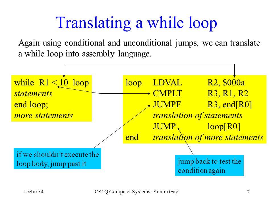 Lecture 4CS1Q Computer Systems - Simon Gay28 The IT Machine vs.