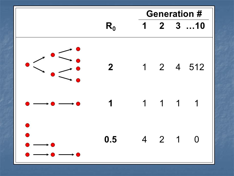 Generation # R 0 123 …10 2124 512 1111 1 0.5421 0