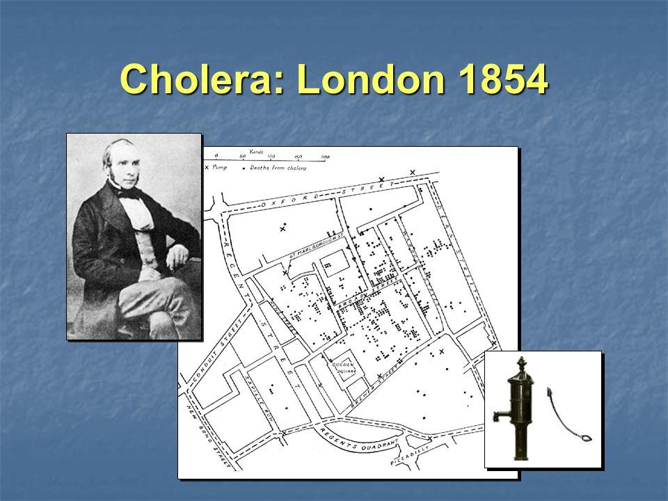 Cholera: London 1854