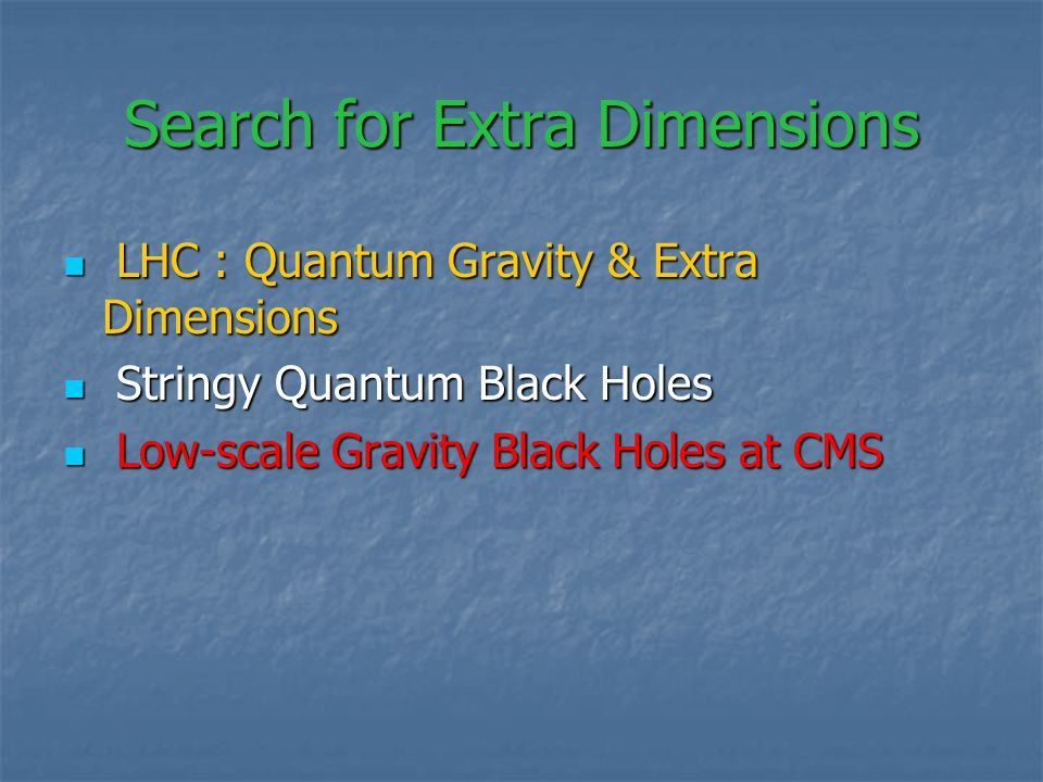 Higgs decay : for lower bound on M_D : Higgs decay : for lower bound on M_D : M_H = 120 GeV E-7 M_H = 120 GeV E-7 500 GeV E-5 500 GeV E-5 resolution on gravitational BR resolution on gravitational BR Virtual KK graviton exchange not affects Virtual KK graviton exchange not affects Z- resonance observables for current experimental sensitivity Z- resonance observables for current experimental sensitivity