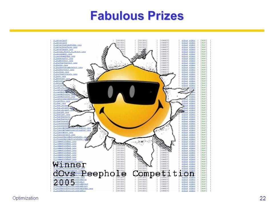 22 Optimization Fabulous Prizes