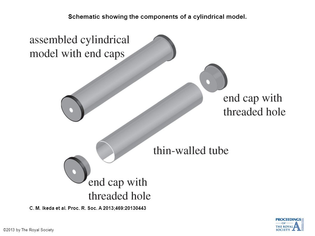 Schematic showing the components of a cylindrical model.