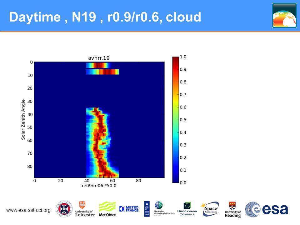 www.esa-sst-cci.org Daytime, N19, r0.9/r0.6, cloud