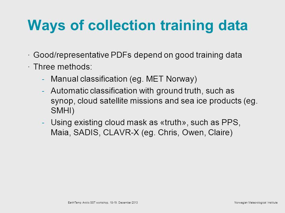EarthTemp Arctic SST workshop, 18-19.