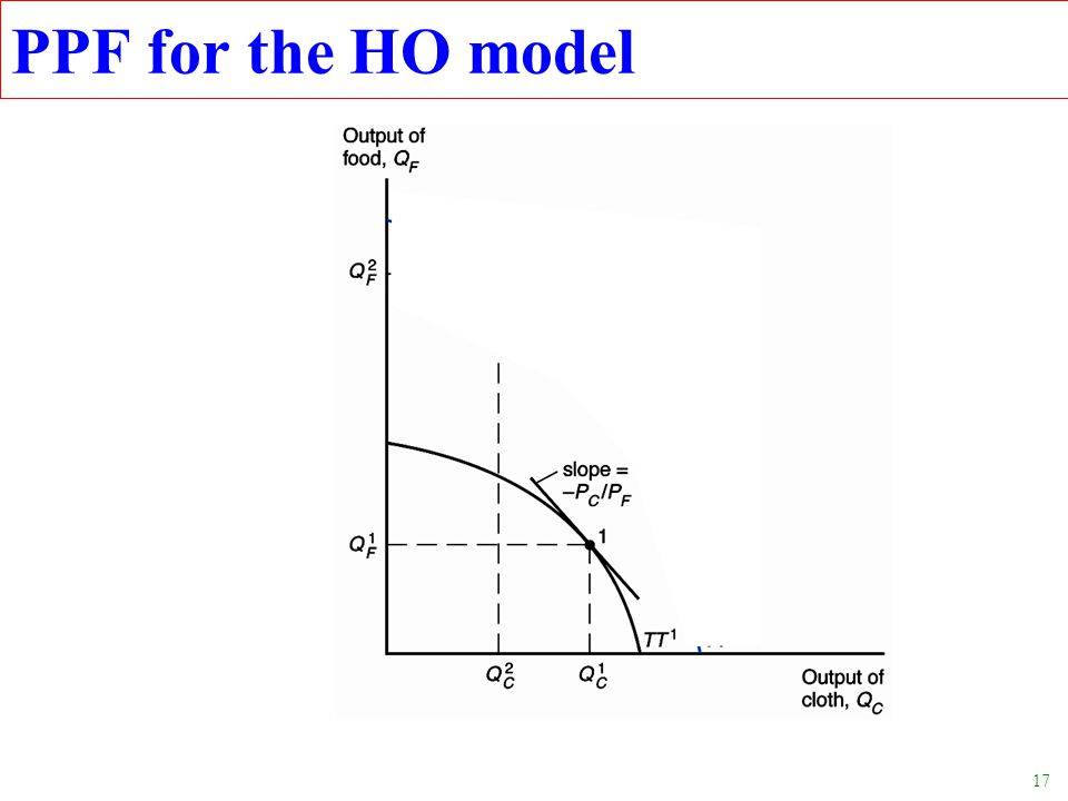 17 PPF for the HO model