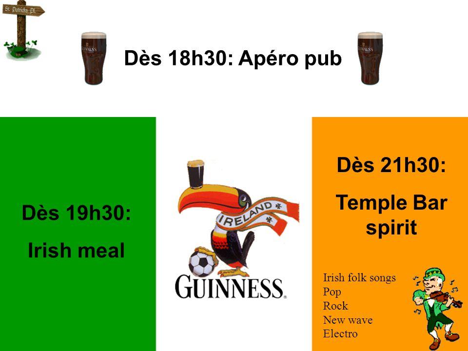 Le samedi 13 mars dès 18h30 Au club house du tennis de Thimister Irish party !