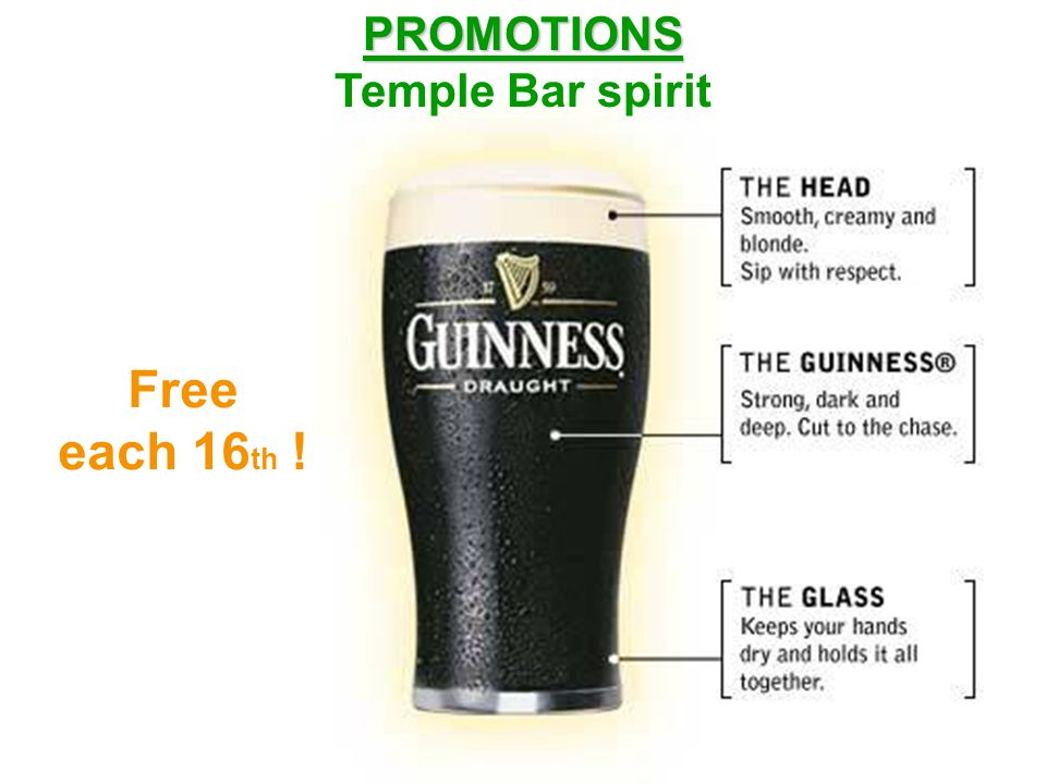 The Thierry Henry's hand shooter PROMOTIONS PROMOTIONS Temple Bar spirit 8 + 2 free !
