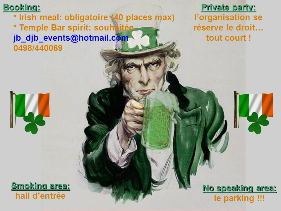 Free each 16 th ! PROMOTIONS PROMOTIONS Temple Bar spirit