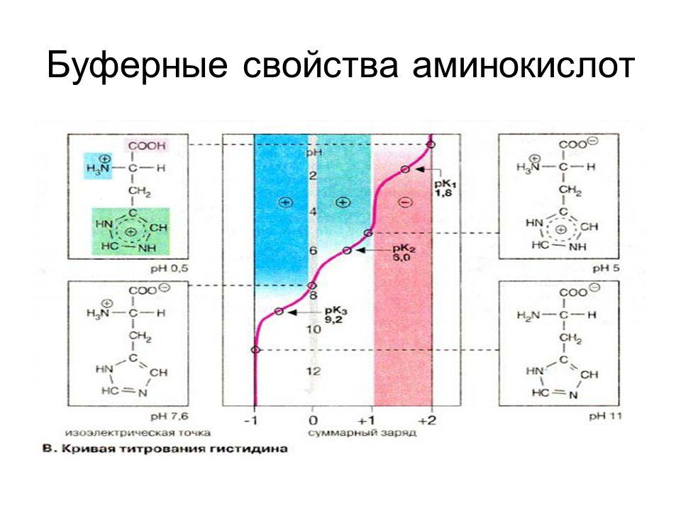 Буферные свойства аминокислот