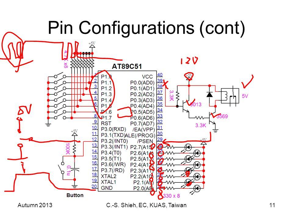 Autumn 2013C.-S. Shieh, EC, KUAS, Taiwan11 Pin Configurations (cont)