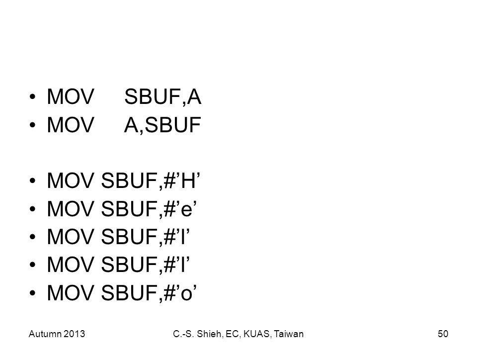Autumn 2013C.-S.