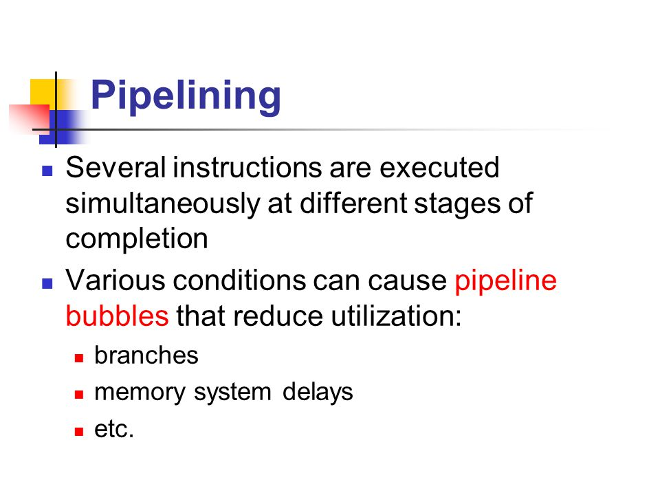 Elements of CPU performance Cycle time CPU pipeline Memory system