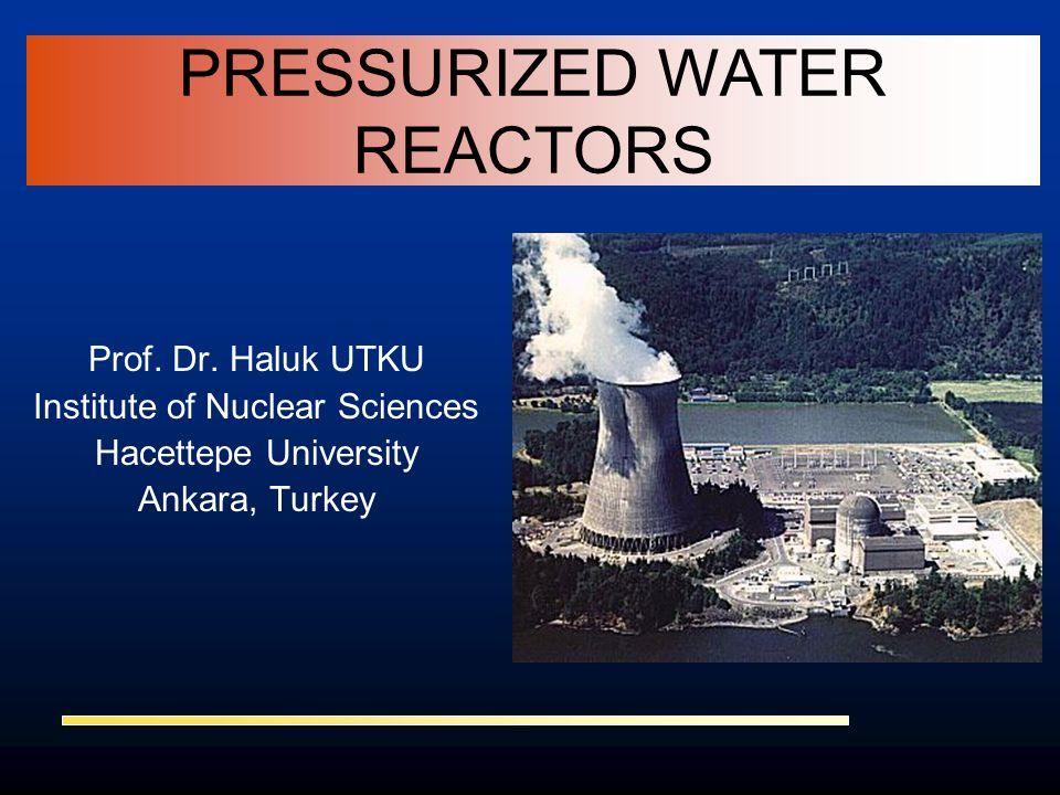 Prof. Dr. Haluk UTKU Institute of Nuclear Sciences Hacettepe University Ankara, Turkey PRESSURIZED WATER REACTORS