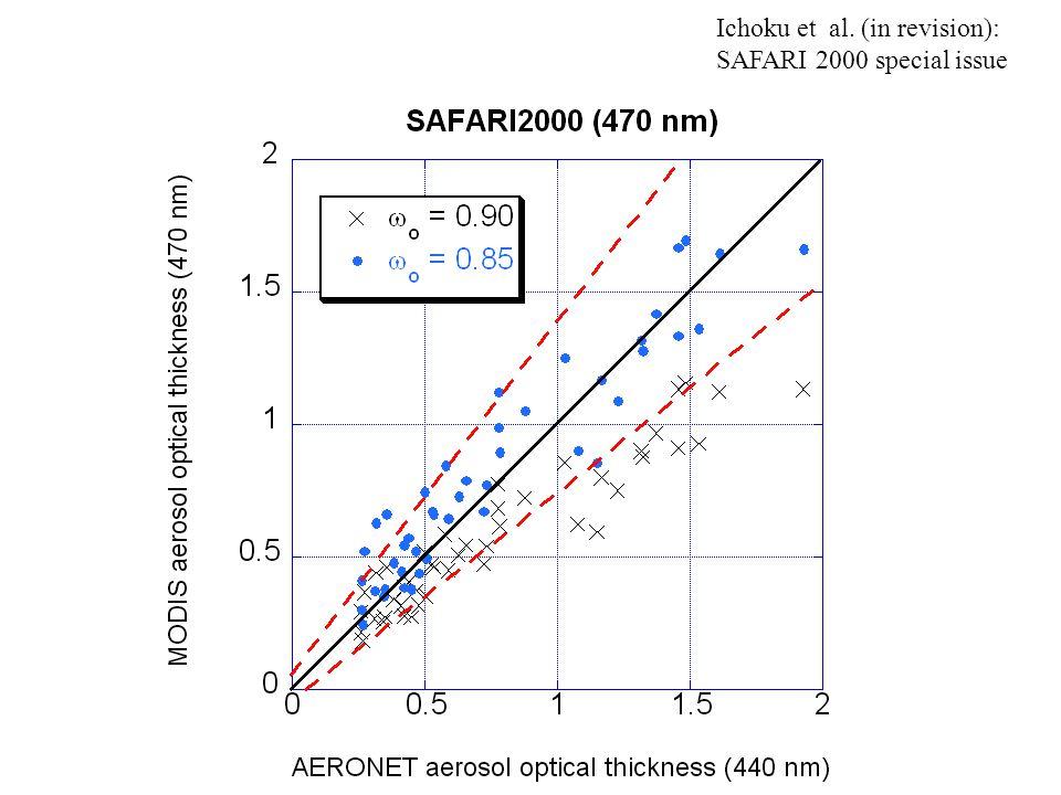 Ichoku et al. (in revision): SAFARI 2000 special issue