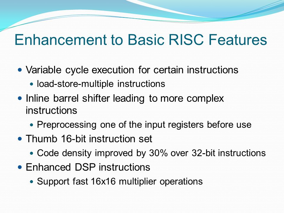 Mode Changing Mode changes by writing directly to CPSR or by hardware when the processor responds to exception or interrupt To return to user mode a special return instruction is used that instructs the core to restore the original CPSR and banked registers