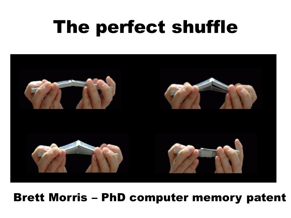 The perfect shuffle Brett Morris – PhD computer memory patent