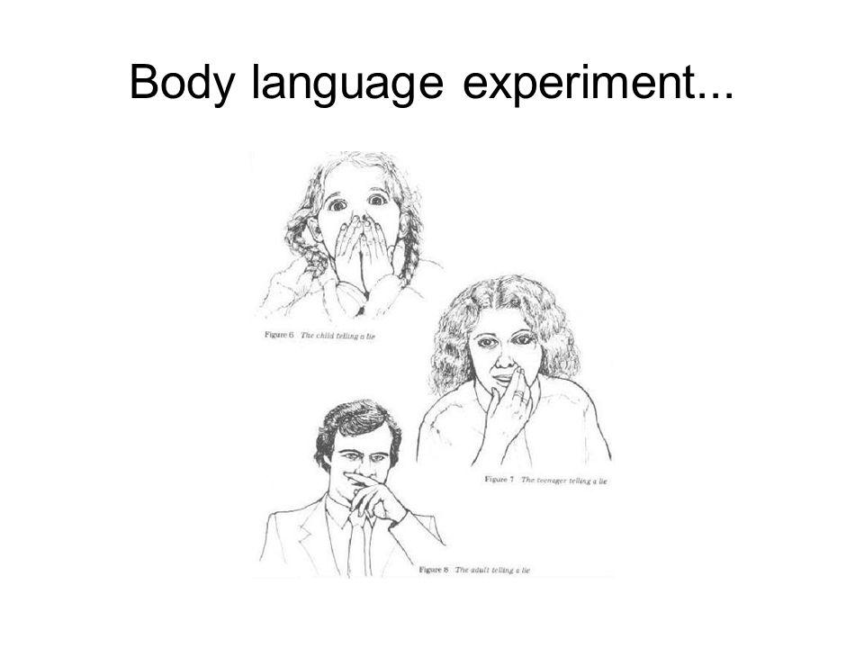 Body language experiment...